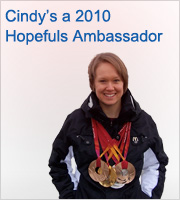 Cindy's a 2010 Hopefuls Ambassador